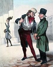 Illustration de Daumier pour Robert Macaire, agent d'affaires.